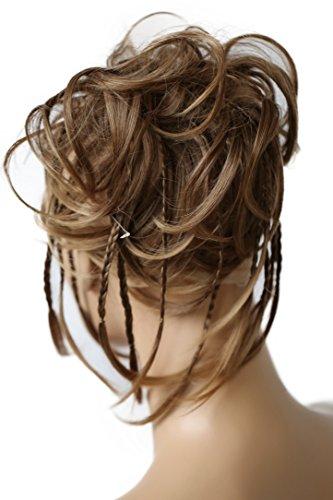 PRETTYSHOP XXL Haarteil Haargummi Hochsteckfrisuren Brautfrisuren Voluminös Gewellt Unordentlich Dutt Braun Mix G6D