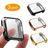 3 Packs Screen Protector Compatible Fitbit Versa Lite Edition, GHIJKL Ultra Slim...