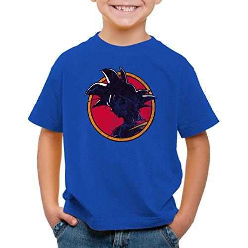 style3 Goku Vintage T-Shirt pour Enfants, Color:Bleu;Talla:104