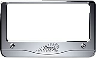 CHROME WAR BONNET LICENSE PLATE FRAME BY INDIAN MOTORCYCLE 2880801-156