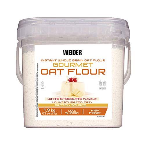 Weider Oat Gourmet. Harina de Avena Integral. Fuente de proteína con bajo contenido en azúcares. Sabor White Chocolate (1,9 kg)