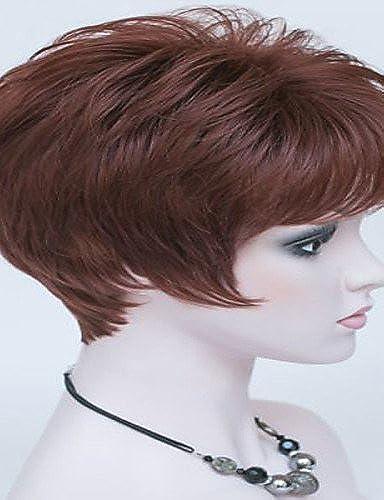 Mode Perücken WIGSTYLE Mode Perücke neue reizvollen Frauen des kurzen braunen blonden menschliches Haar Perücken