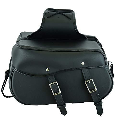 RXL Bolsa de sillín de Cuero para Motocicleta, Organizador de Almacenamiento de Equipo Paquete de Asiento Bolsa de sillín Caja de Almacenamiento Impermeable Negro