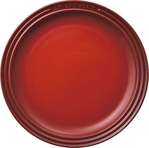 ル・クルーゼ(Le Creuset) 皿 ラウンド・プレート 23 cm チェリーレッド 耐熱 耐冷 電子レンジ オーブン 対...