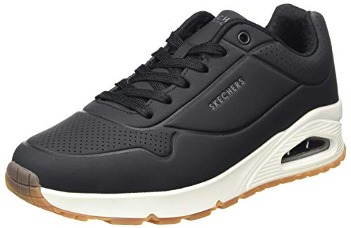 Skechers UNO Stand ON Air, Sneaker Uomo, Black Durabuck/Trim Blk, 43 EU