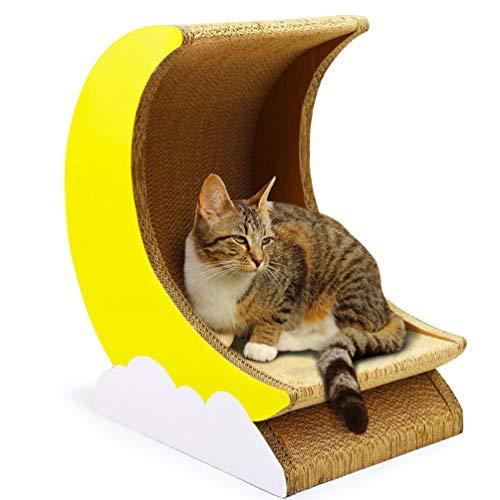 XXDYF Katzespielzeug, das interaktives Katzenspielzeug des Spielzeugs Trojanisches Pferd + Mond Kratzmöbel Kratzmatte Kratzbretter aus Recycebar Wellpappe