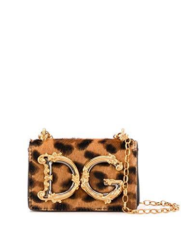 Moda De Lujo | Dolce E Gabbana Mujer BI1398AX663HAALM Marrón Cuero Bolso De Hombro | Primavera-verano 20
