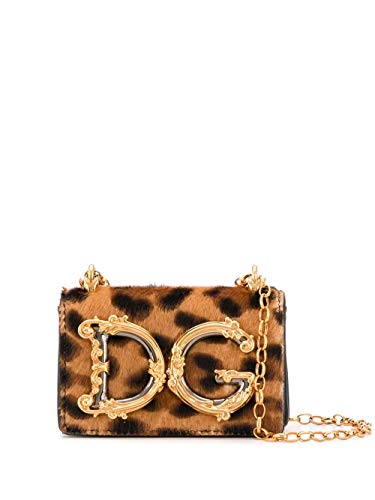 Luxury Fashion | Dolce E Gabbana Donna BI1398AX663HAALM Marrone Pelle Borsa A Spalla | Primavera-estate 20