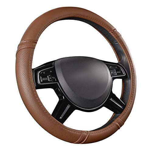 CAR PASS Classical Leather Automotive Universal Steering Wheel...