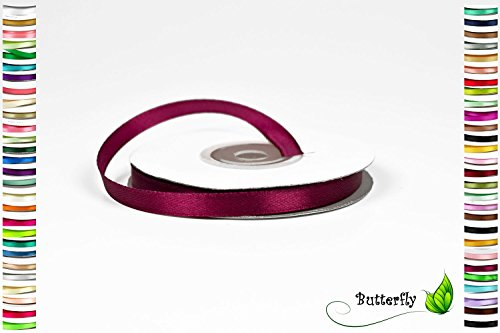 Creativery 25m Rolle Satinband 6mm (dunkel Bordeaux 275) // Schleifenband Deko Band Dekoband Geschenkband Dekoration Hochzeit Taufe