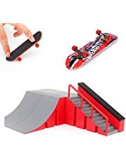 AumoToo Rampas Skatepark, Mini Kit Diapasón Parque del Patín Monopatín Dedo Entrenamiento En La última Puntales Juguete Niños