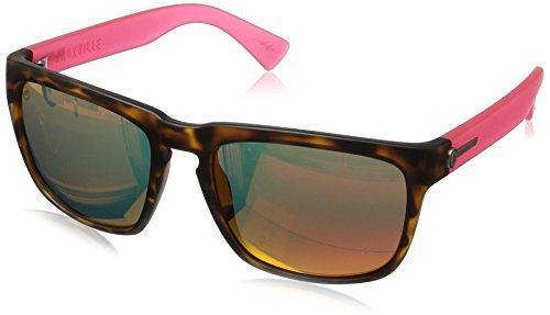 Electric Visual Knoxville Matte Coral Tortoise/OHM Grey Fire Chrome Sunglasses
