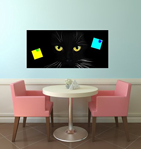 wodtke-werbetechnik magneetbord sticker kat zwart geschikt voor IKEA Spontan