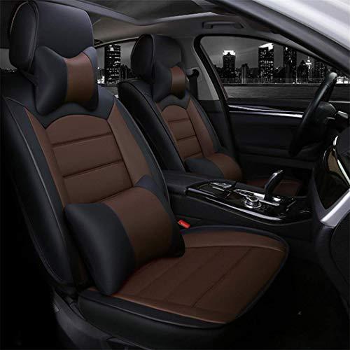 Maidao Fundas de asiento de coche personalizadas para Citroen C4 Aircross Picasso 2006-2021 Protector de asiento delantero compatible con airbag resistente al desgaste impermeable 2 fundas de asiento