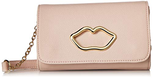 Betsey Johnson Lip Cut Out Crossbody Blush One Size