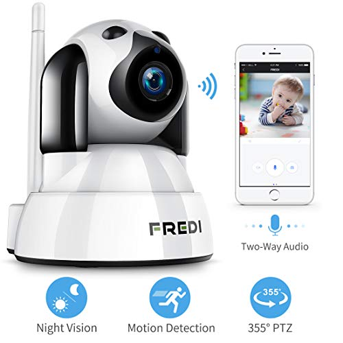 FREDI Baby Monitor,Pet Camera- Wireless Security Camera with Night Vision/Two Way Audio/PTZ/Motion Detection,2.4G WiFi IP Camera Indoor Surveillance Camera for Nanny/Pet/Dog Camera with Phone APP