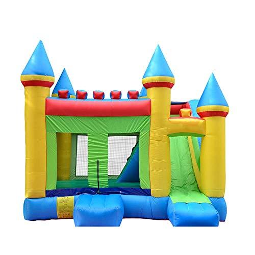 WRJY Kind Langlebige aufblasbare Trampline Hüpfburg Springhaus mit Gebläse Aufblasbare Hüpfburg Kinderhof im Freien für Kinder Kinderspielplatz