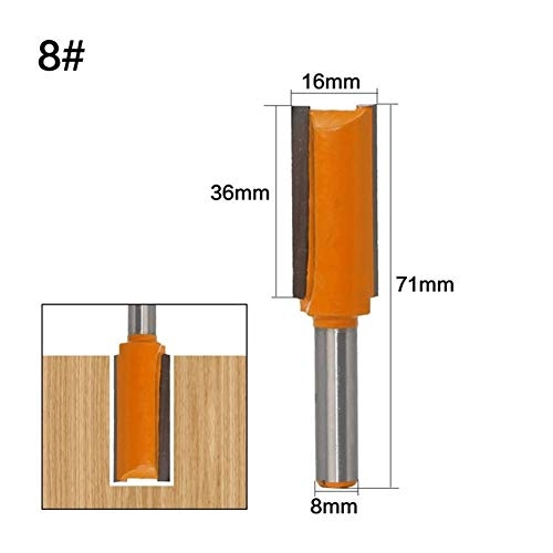 Shank Router Bit Set 1Pc 8mm Schaft...