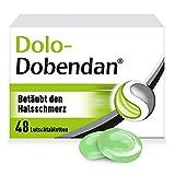 Dolo-Dobendan Halsschmerztabletten 1,4mg/10mg – Schnell lindernde Lutschtabletten bei Halsschmerzen & schmerzhaften Entzündungen im Mund- & Rachenraum – 1 x 48 Tabletten