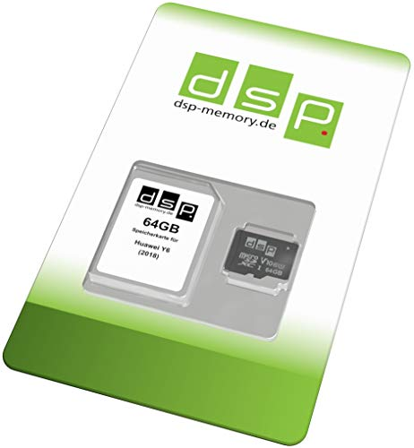 DSP Memory 64GB Speicherkarte (Class 10) für Huawei Y6 (2018), Schwarz, Z-4051557481732