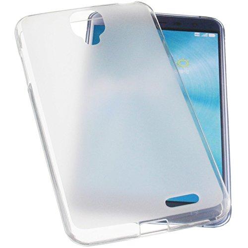 foto-kontor Tasche für Archos 55 Helium Ultra Gummi TPU Schutz Handytasche transparent weiß