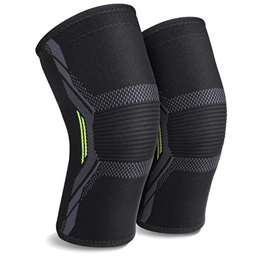 Knee Brace Knee Compression Sleeves Knee Support for Women or Men for Running Plus Size MUBYTREE