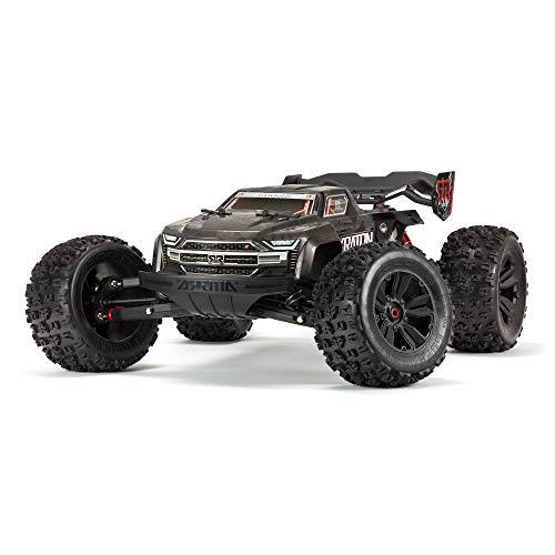 ARRMA 1/8 KRATON 4WD Extreme Bash Roller Speed Monster RC Truck, Black, ARA106053