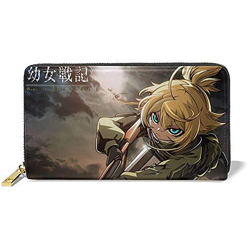 Wallet Purse,Saga of Tanya Die Evil-Tanya Pu-Lederhandtasche, Klassische Geldbörsen Für Walking Shopping Dating,10.5(W) x20.5(L) x2.7(T) cm