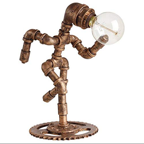 SWNN leselampe LED Retro Nostalgische Tischlampe Bar/Café Dekoration Tischlampe Schlafzimmer Kreative Roboter Tischlampe