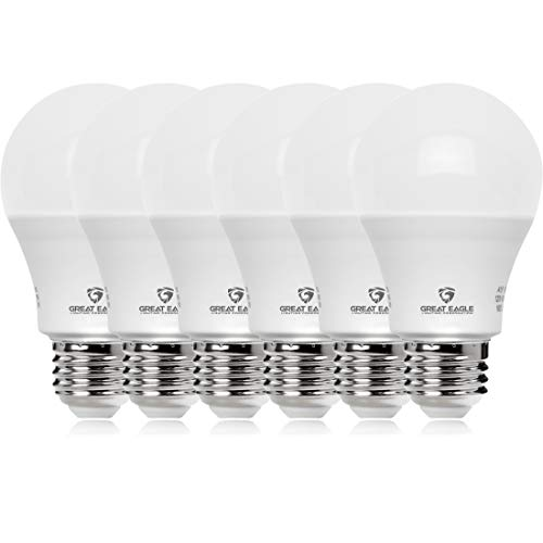 Great Eagle 100W Equivalent LED Light Bulb 1500 Lumens A19 3000K Soft White Non-Dimmable 15-Watt UL Listed (6-Pack)