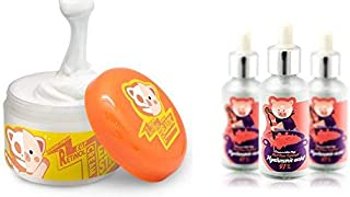 Elizavecca Anti Aging Night Cream Hyaluronic acid Serum 1Bottle + Elizavecca Milky Piggy Wrinkle care Revitalize EGF Retinol Cream set for Brightening and Anti-Aging care
