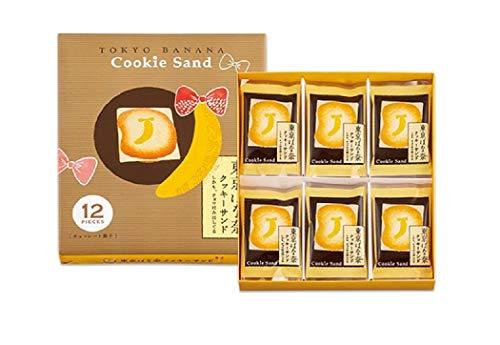 東京ばな奈 クッキーサンド しかも、チョコはみ出してる (12枚入 国産もち米あられ1個セット)