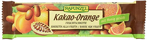 Rapunzel Fruchtschnitte Kakao-Orange,10er Pack (10x 40 g) - Bio