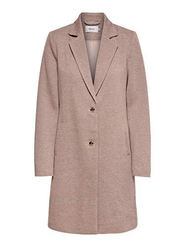 ONLY Damen ONLCARRIE Life Mel Coat OTW NOOS Mantel, Mocha Mousse/Detail:Melange, 36