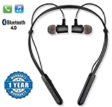 POPPEY HBS-730 Neckband Bluetooth Wireless Headset with Mic for All Smartphones(Black)
