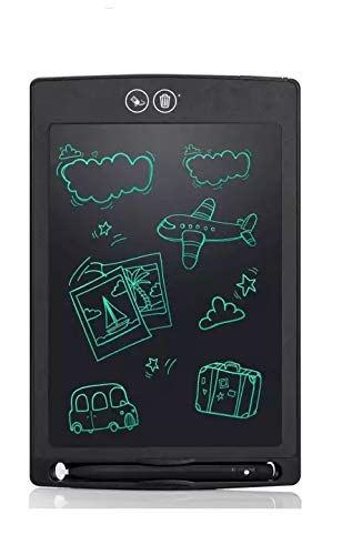 Partial Delete & Erase Button 8.5 inch LCD Writing Tablet, LCD Electronic Writer,Touch Pad, Office Memo Doodle Board, Message Board 8.5 inch, Doodle Board Learning Toy,(Black) (Black)
