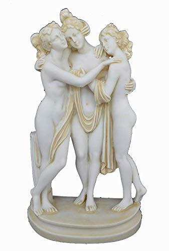 Estia Creations Graces Charites Skulptur, alte Statue, antike, griechische Göttinnen