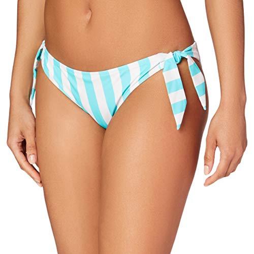 Amazon-Marke: Iris & Lilly Damen Bikini Unterteil mit Schnürung, Mehrfarbig (Midori), XL, Label: XL