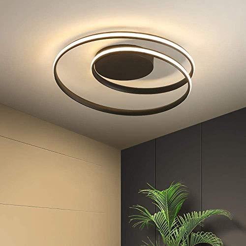 TYH Alluminio Paralume Semplice triphone remoto soffitto Camera da Letto Soggiorno/candeliere (Colore: Nero),Black