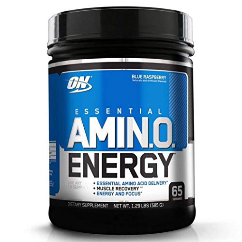 Optimum Nutrition ON Amino Energy Package of 1 x 558g Pre Workout Booster Powder with Beta Alanine Caffeine Green Tea Extract and Vitamin C - Sugar Free - Blueberry Lemonade
