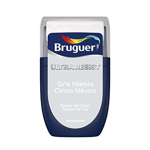 Bruguer Tester ULTRA RESIST Pintura para paredes ultra lavable Gris Niebla, 0.030 litros