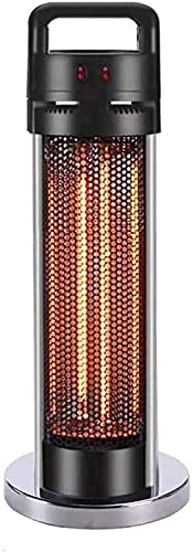 HE&DONG Calentador De Patio Al Aire Libre,Calentador De Torre De Grafito De 1500w con Mesa,Calentador Infrarrojo Eléctrico Calentador De Columna De Pie Ip55 Impermeable Debajo del Calentad-Asa Medio
