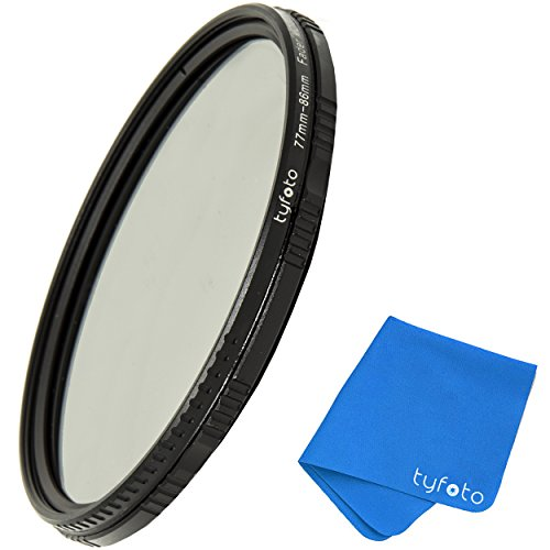 58mm 2-400 Variable ND Filter for Camera Lenses - NDX Professional Photography Filter with Lens Cloth - Schott b270 Glass,16-Layer Nanoform, Ultra-Slim, Weather-Sealed by Tyfoto