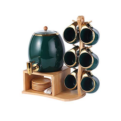 Conjunto de tazas de café de porcelana, para bebidas calientes o frías como cacao, leche, té o agua, altas temperaturas resistentes al hogar hervidor de hervidor de hervidor de agua fría.