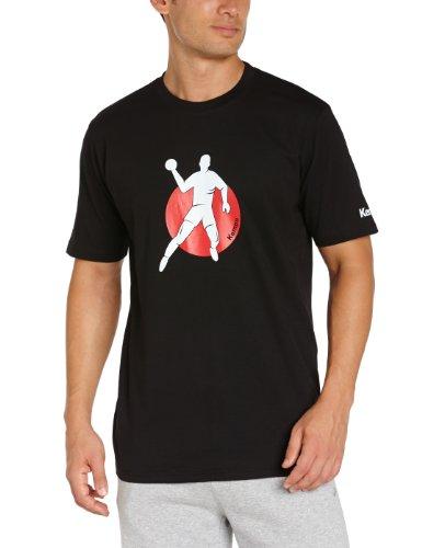 Kempa 200291202 T-Shirt Tee Promo Print, schwarz, XL