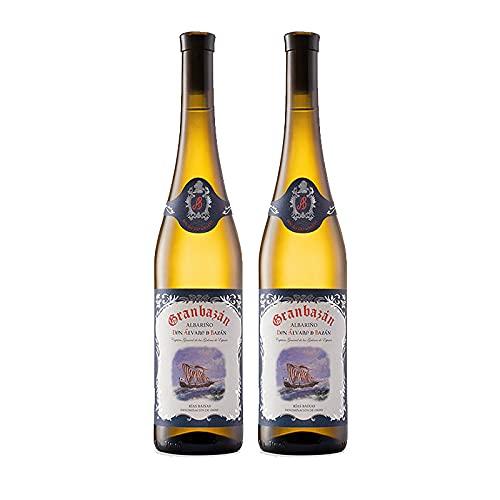 Vino Blanco Albariño Granbazan Don Alvaro de Bazan de 75 cl - D.O. Rias Baixas - Bodegas Granbazan (Pack de 2 botellas)