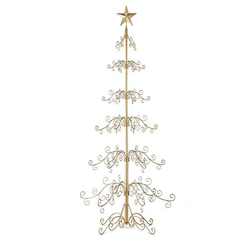 Metal Ornament Tree-84'H - Gold