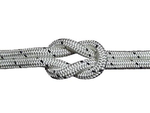 Schot-Tauwerk-Allroundleine 12mm Kennung schwarz 20m Schot,Seil,Tau,Tauwerk,Festmacher,Ankerleine