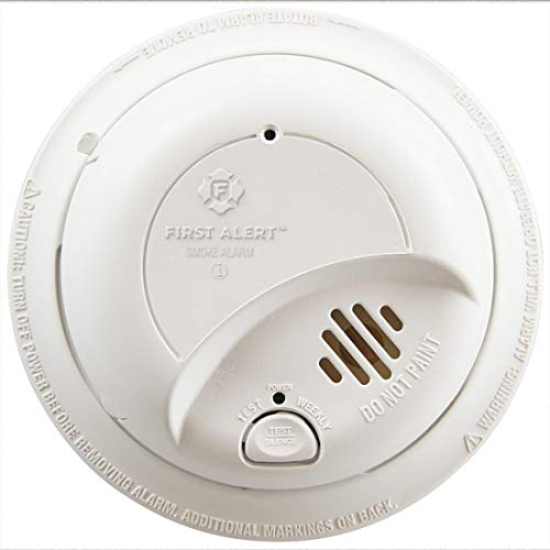 First Alert BRK Brands 9120B Hardwired Smoke Alarm with Battery Backup, Single
