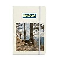 空のベンチ林業科学は自然の風景 ノートブッククラシックジャーナル日記A 5
